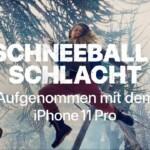 Aufgenommen mit dem iPhone 11 Pro – Schneeballschlacht